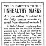 Los antimascarillas llevan contando lo mismo desde 1918. Y adjuntamos material gráfico para probarlo