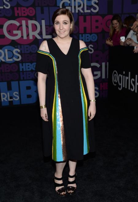 Lena Dunham en el estreno de Girls temporada 4