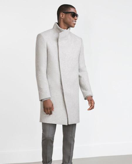 gran venta comprar 100% de alta calidad Abrigo cuello chimenea hombre – Revista de moda popular