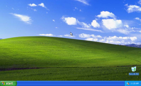 El escritorio de Windows XP