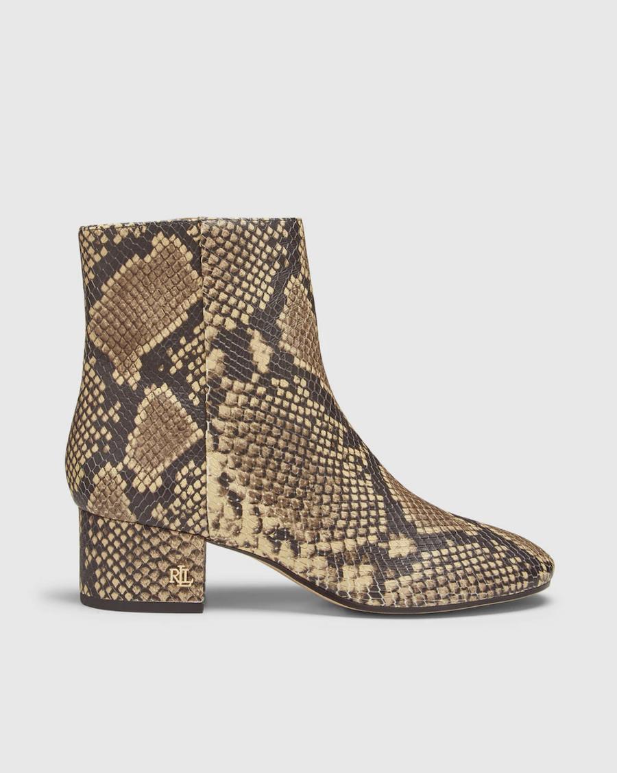 Botines de mujer Lauren Ralph Lauren con print serpiente