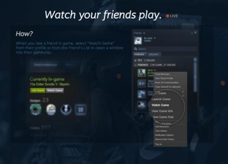 Valve se apunta al streaming de videojuegos y anuncia este servicio para Steam