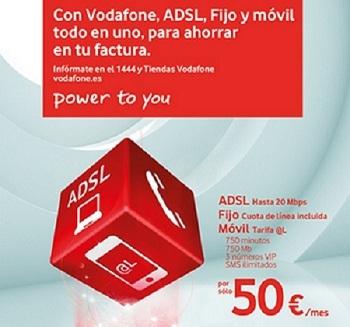 Vodafone Todo en Uno: ADSL, fijo y móvil