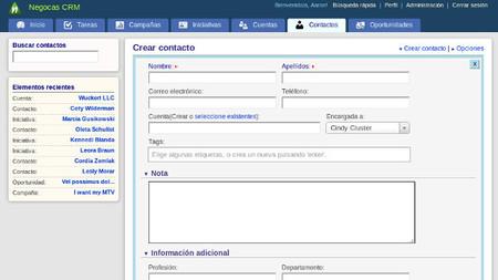 Negocas CRM, gestión de clientes en la nube y en modalidad de pago por uso