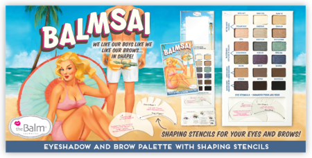 The Balm presenta su nueva paleta de sombras y cejas Balmsai