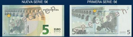 nuevo billete 5 euros reverso