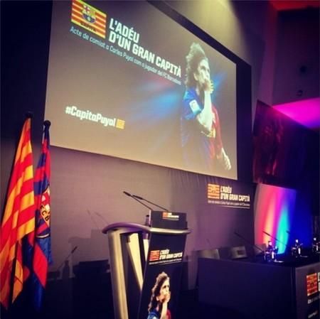 Se nos salta la lagrimilla con esa despedida de Puyol del Barça