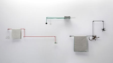 Toalleros y colgadores de cuerda que se adaptan al tama o for Colgadores de bano