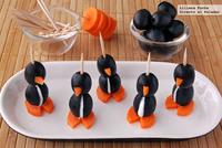 Simpáticos pingüinos rellenos de queso. Receta