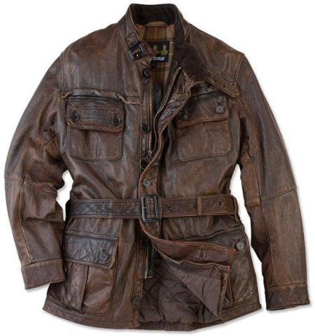 Barbour Vintage, cazadora de cuero a lo Indiana Jones