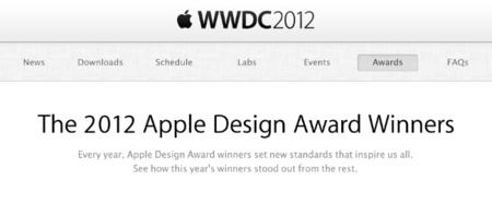 Apple anuncia los ganadores de los Apple Design Awards 2012