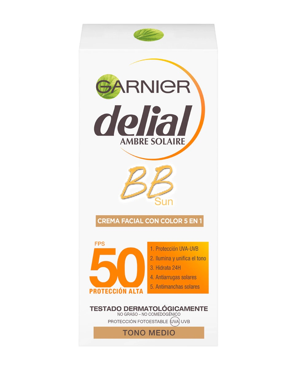 BB Cream para el sol con color SPF50 de Delial