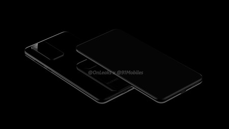Huawei P40 Render Diseno Camara Pantalla