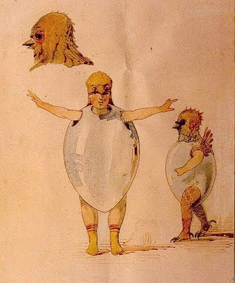 Baile de los polluelos en sus cascaras
