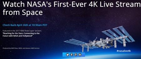 La NASA realizará este mes la primera emisión 4K en streaming directo desde el espacio