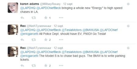 Tweet Tesla Model S Lapd