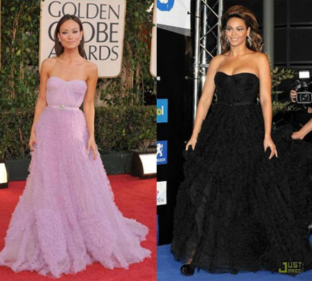 Vestido de Reem Acra: ¿Beyoncé u Olivia?