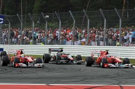Massa Alonso Hockenheim F1 2010