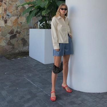 13 pantalones cortos paper bag de H&M que favorecen mucho porque son de tiro alto, marcan la cintura y no son ajustados