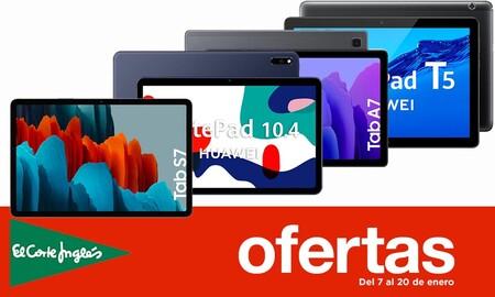 16 ofertas en tablets Samsung, Huawei o Lenovo con descuentos de hasta un 34% en las Rebajas  en El Corte Inglés