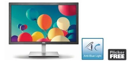 AOC presenta sus nuevos monitores con Anti Blue Light y Flicker Free