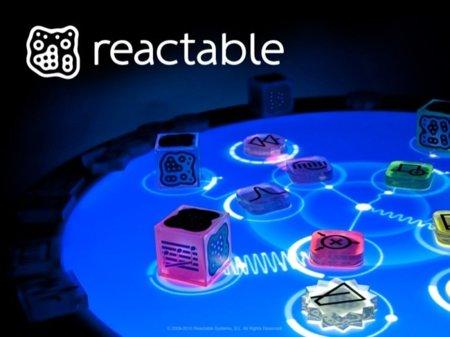 Pantalla de presentación de Reactable