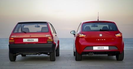 Seat Ibiza, trasera de la primera y cuarta generaciones