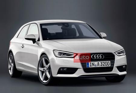 Una tapa de Audi A3 antes de su estreno en Ginebra
