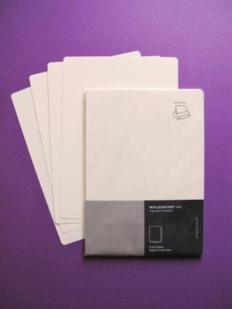 Papel Moleskine para imprimir, en DIN A4 y con las esquinas redondeadas