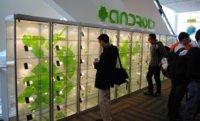 Exposición con prácticamente todos los dispositivos Android en el mercado