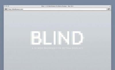 """Blind, consigue abrir páginas web con su resolución """"tradicional"""" en pantallas retina"""