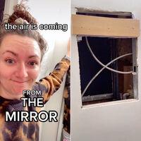 Una mujer descubrió un apartamento entero detrás del espejo de su baño. Al parecer en EEUU no es algo inaudito