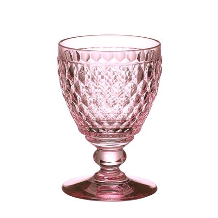 Copas de cristal rosa