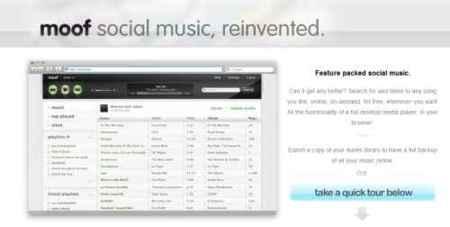 Moof, gestiona y reproduce online tus temas musicales favoritos