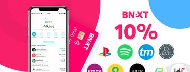 10% de descuento en Spotify, Netflix, Uber o PSN con la tarjeta sin comisiones Bnext