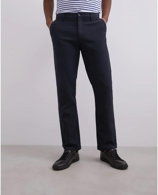 Pantalón cinco bolsillos de hombre recto en azul
