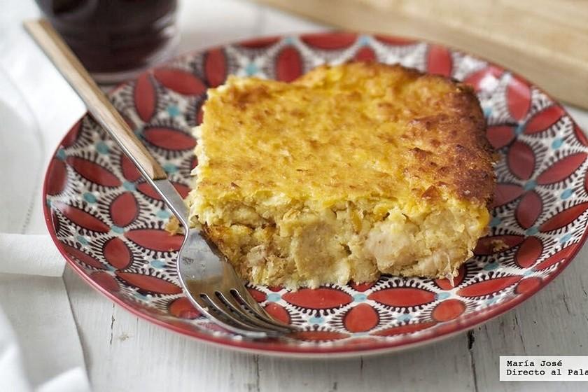 Chipa Guazú o pastel de maíz. Receta paraguaya