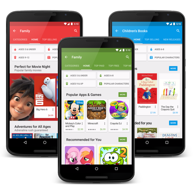 contenido familiar para Android