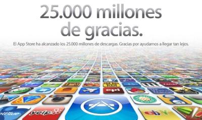 La App Store consigue 25 mil millones de descargas