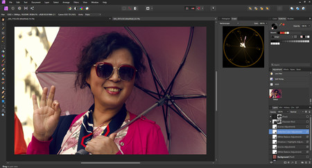 dar estilo de color a una imagen en affinity photo