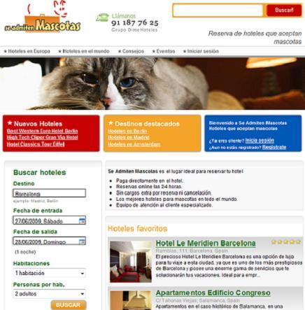 Se Admiten Mascotas, buscador de hoteles pet friendly