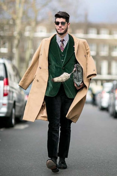 Trendencias Hombre Terciopelo Street Style 2018 15