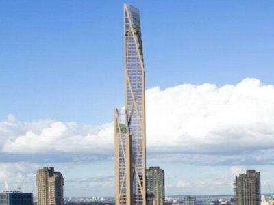 Londres planea construir un edificio de madera de 80 plantas