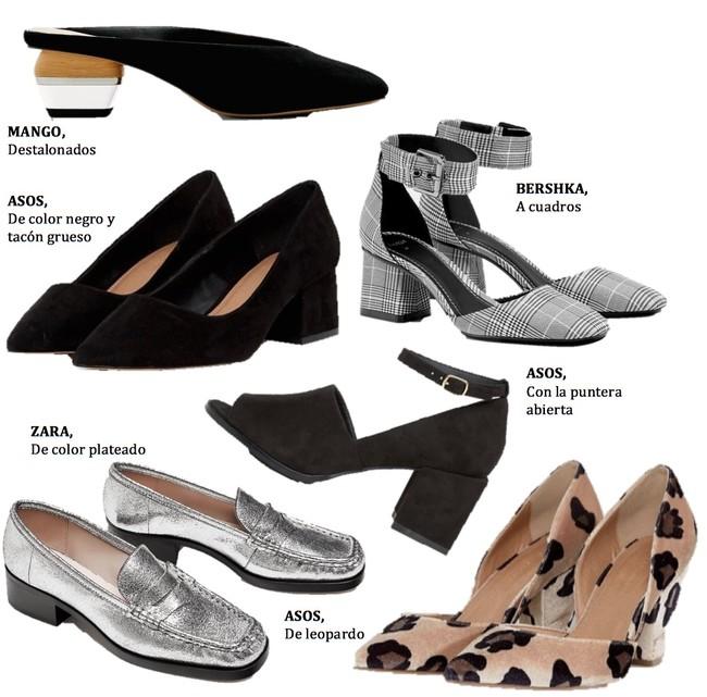 Zapatos Tacon Medio
