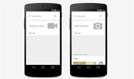 Google Search (en inglés) para Android ya permite sacar fotos y vídeos mediante comandos de voz