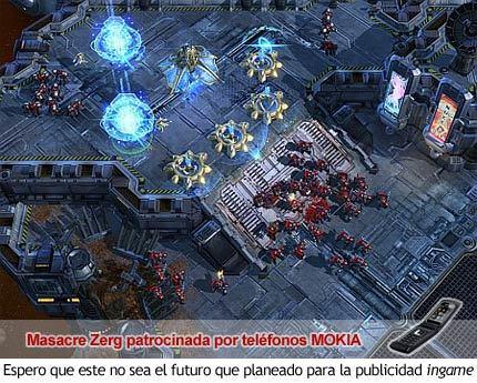 StarCraft II - Faldon de publicidad ingame