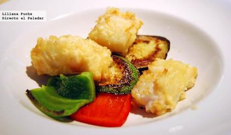 Restaurante Realcafé Bernabeu. Bacalao en tempura
