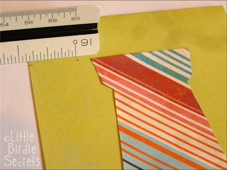 Paso a paso 3 tarjeta corbata amarilla