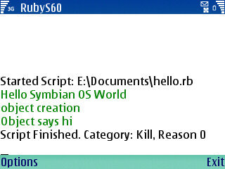 Ruby para Symbian S60