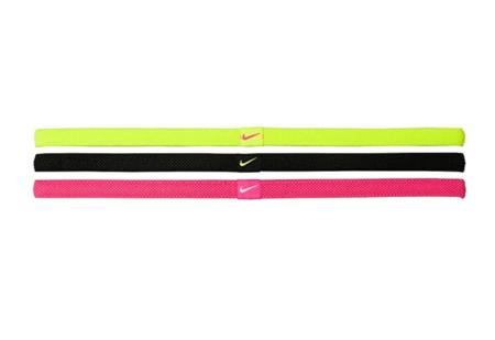 Nike Elastic Hairband 3pk Volt Black Pink